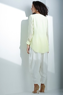 Lime Georgette Shirt by AM:PM