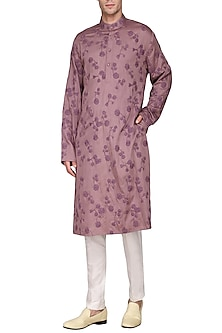 Purple Floral Embroidered Kurta by Amaare