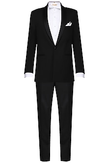 Black tuxedo with trousers by Amaare