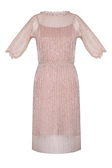Peach Drape Skirt Dress by AGT by Amit GT