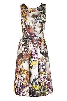 Multicolored Printed Frock Dress by AMIT GT