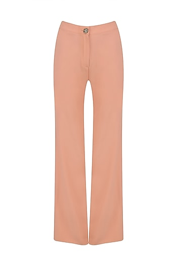 Salmon Wide Legged Trousers by AMIT GT