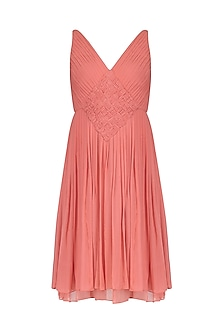 Rasberry Pink Draped Dress by AGT By Amit GT
