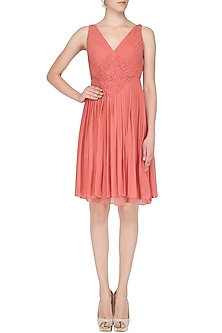 Rasberry Pink Draped Dress by AMIT GT