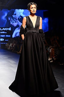 Black Ball Gown with Jacket by AGT By Amit GT