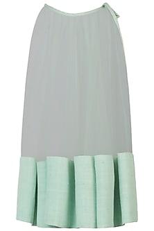 Powder blue lurex dress by AMIT SACHDEVA