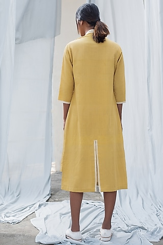 Citrine Double Layered Dress by Antar Agni