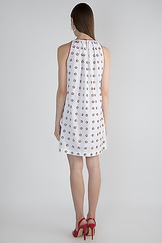 White Embroidered Dress by Anand Bhushan
