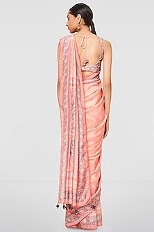 Blush Pink Printed Saree Set by Anita Dongre