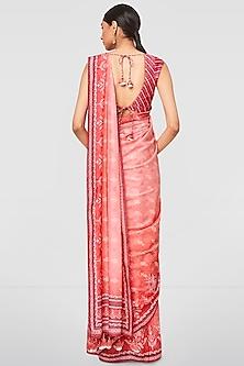 Coral Printed Saree Set by Anita Dongre