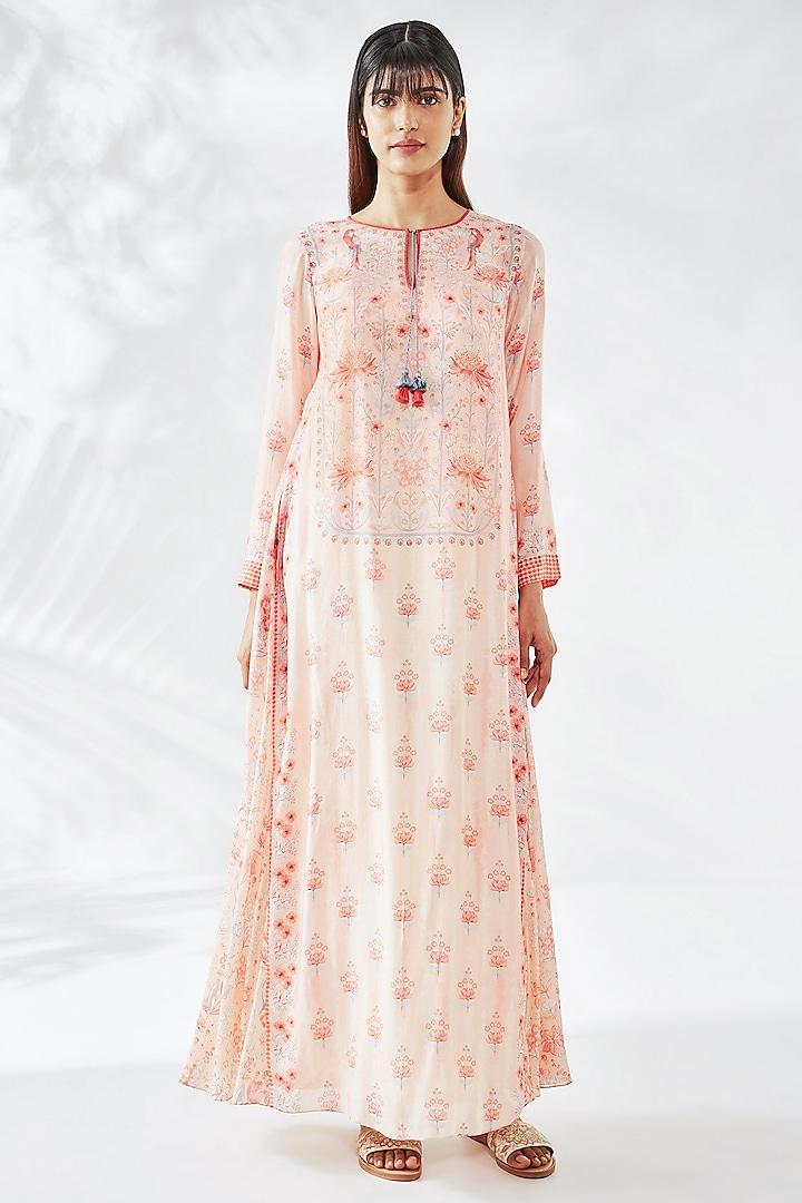 Pink Bemberg Floral Kaftan by Anita Dongre