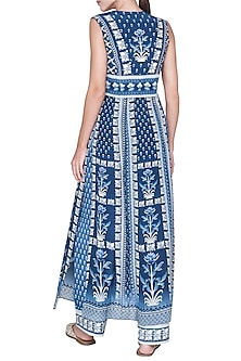 Indigo Blue Printed Kurta With Pants by Anita Dongre