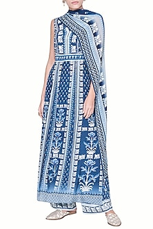 Indigo Blue Printed Kurta Set by Anita Dongre