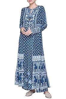 Blue Gathered Dress by Anita Dongre