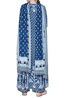 Blue Gathered Kurta Set by Anita Dongre