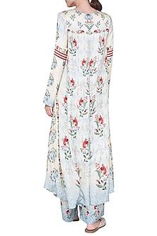 Blue Printed Asymmetric Dress by Anita Dongre