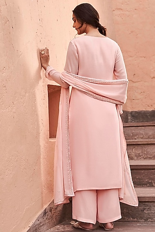 Pink Embroidered Kurta Set by Anita Dongre