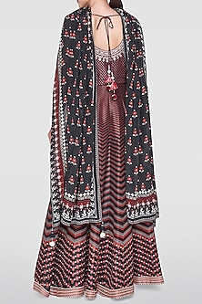 Black Embroidered & Printed Kurta Set by Anita Dongre