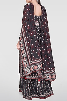 Black Embroidered & Printed Sharara Set by Anita Dongre