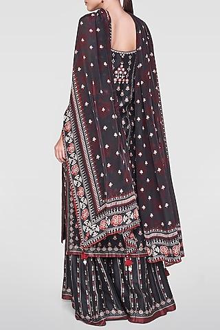 Black Embroidered & Printed Sharara Set by Anita Dongre