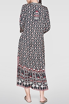 Black Printed High-Low Tunic by Anita Dongre