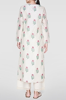 Natural Printed & Embellished Kurta by Anita Dongre