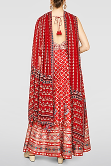 Red Embroidered Kurta Set by Anita Dongre