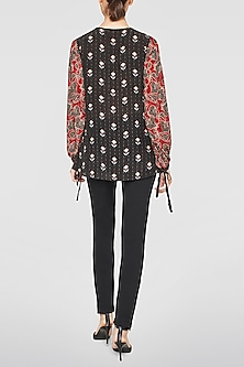 Black Printed Top by Anita Dongre