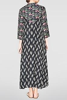 Black Printed Chetana Dress by Anita Dongre