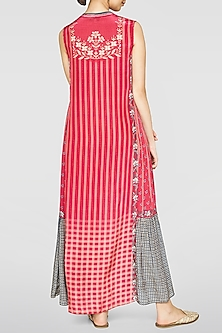 Pink Floral & Checkered Dress by Anita Dongre