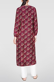 Plum Red Hued Printed Kurta by Anita Dongre