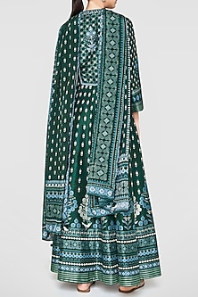 Lush Green Printed & Embroidered Kurta Set by Anita Dongre