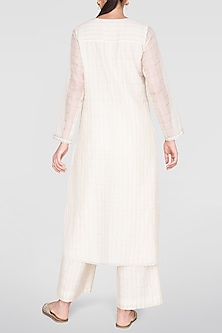 Cream Embroidered Kurta With Culotte Pants by Anita Dongre