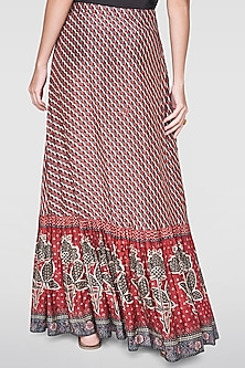 Red Printed Skirt by Anita Dongre