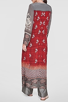 Red Printed Kurta by Anita Dongre