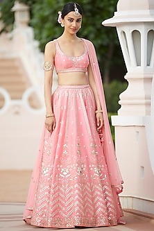 Jaipur Pink Embroidered Lehenga Set by Anita Dongre-Shop By Style