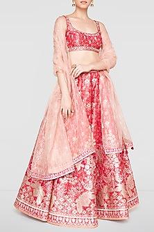 Pink Embroidered Lehenga Set by Anita Dongre