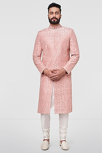 Light Pink Embroidered Sherwani by Anita Dongre Men