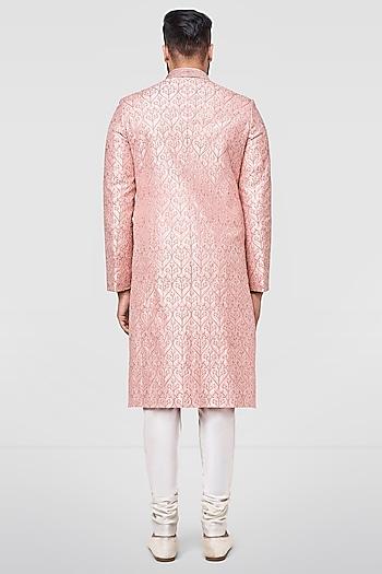 Light Pink Embroidered Sherwani by Anita Dongre Men