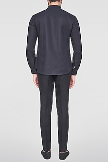 Black Pintuck Shirt by Anita Dongre Men