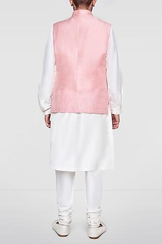 Pink Embroidered Nehru Jacket by Anita Dongre Men