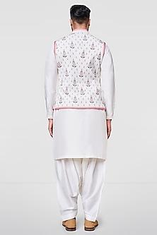 Off White Digital Printed Jacket by Anita Dongre Men