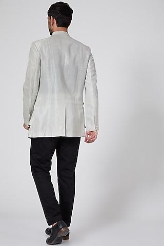 Grey Ombre Overlay Jacket by Antar Agni Men