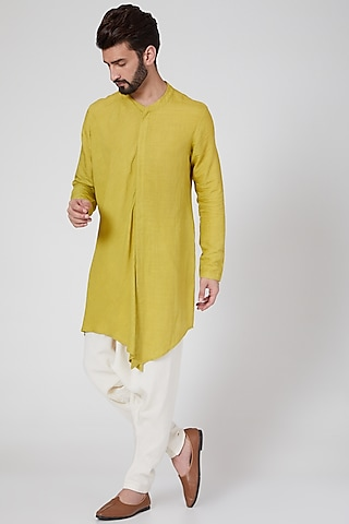 Yellow Long Shirt by Antar Agni Men