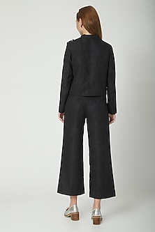 Black Corduroy Cullote Pants by Aruni