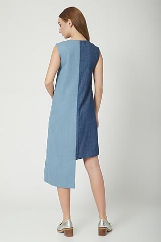 Dark & Medium Blue Denim Dress by Aruni