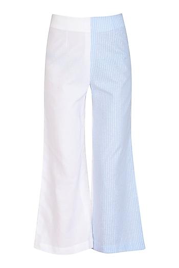 Blue & White Striped Pants by Aruni