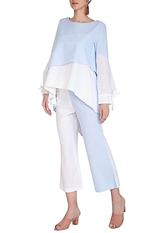 Blue & White Striped Pants by Aruni