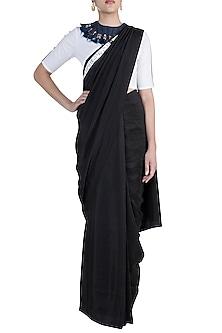 Black Shibori Saree Set by Anamika Khanna
