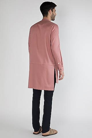 Dusty Pink Hand Painted Shirt by Ananke